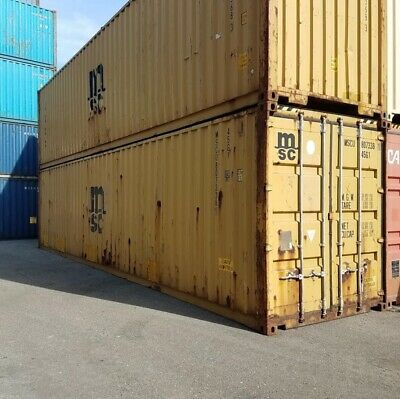 Used 20' Dry Van Steel Storage Container Shipping Cargo Conex Seabox Tampa