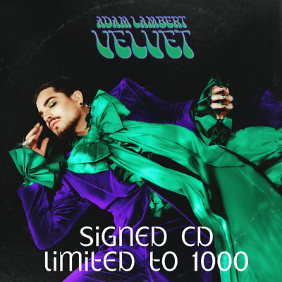 Adam Lambert Velvet signed cd Pre Order SOLD OUT Download of cd Included
