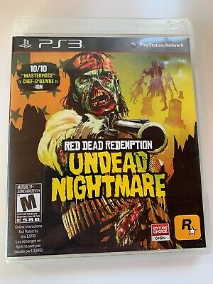 Red Dead Redemption: Undead Nightmare (Sony PlayStation 3, 2010) PS3 Complete
