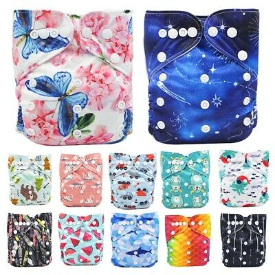 Baby One Size Cloth Diaper Reusable Pocket Nappy Newborn Washable Adjustable New