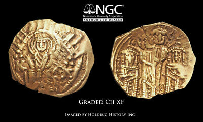 Andronicus II Palaeologus with Michael IX. 1282-1328, Gold Hyperpyron, NGC Ch XF