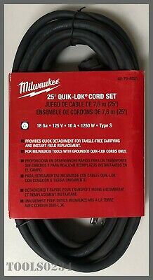 Milwaukee® Tools 48-76-4025 25' 3-Wire QUIK-LOK® Cord
