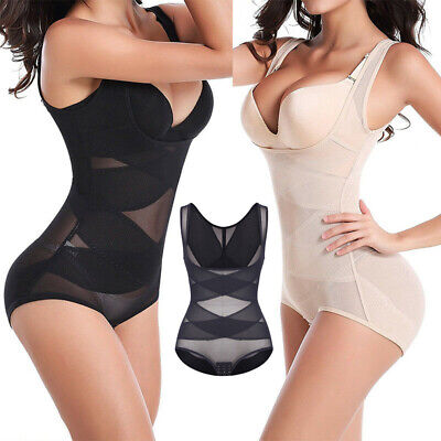 Seamless Women Full Body Shaper Shapewear Bodysuit Firm Control Girdle Corset HG