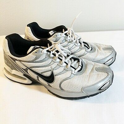 Nike Max Air Torch 4 Size 11 White Black Silver Gray Shoes Running Sneakers Mens