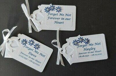 Forget me not Seeds for Funerals - 10 packs- with pretty personalised labels