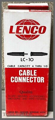 LC-10 cable connector set Lenco 05040 250amp black cable size #4-1//0