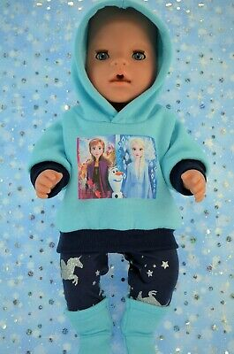 """Play n Wear Dolls Clothes To Fit 17"""" Baby Born AQUA HOODIE~LEGGINGS~BOOTS"""
