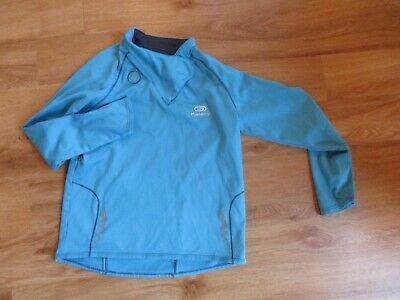 Girls Or Boys Sports Active Wear Running Top Blue Warm Age 8 Years