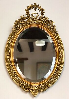 Antique French Louis XV Style Gilded Oval Mirror