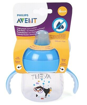 Philips Avent Sip No Drip Cup (Blue) - 200mL Philips Avent Free Shipping!