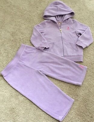 Infant Baby Girls Juicy Couture 2pc Terry Jogger Pant Set Tracksuit Size 18M 18