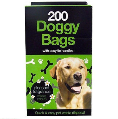 TidyZ 200 DOGGY BAGS Scented Pet Pooper Scooper Bag Dog Cat Poo Waste Poop
