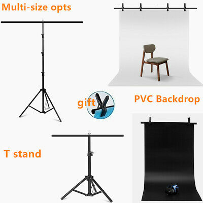 T-shape Adjustable Background PVC Backdrop Support Stand Tripod Multi-size opts