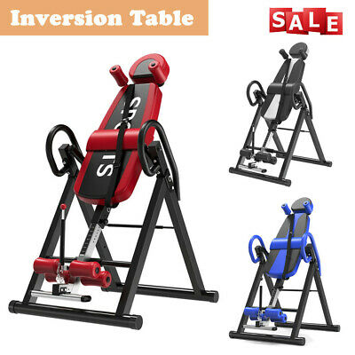 Inversion Table Fitness Chiropractic Back Stretcher Heavy Duty Reflexology Pad