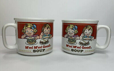 Vintage Campbell's Soup Mugs by Westwood 1991 And 1993 Set of 2