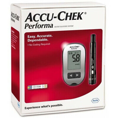 Accu-Chek Performa Blood Glucose Meter And Lancing Device Easy No Coding Kit