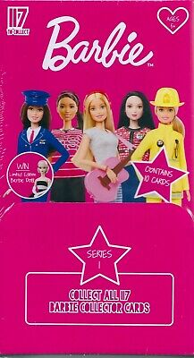 barbie collector trading cards factory sealed box 24 packets series 1