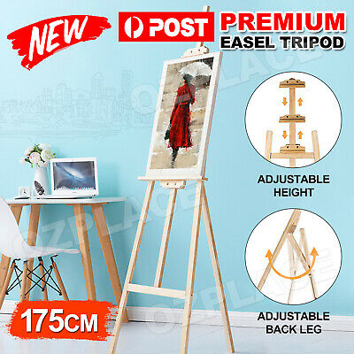 AUP Pine Wood Easel Artist Art Display Painting Shop Tripod Stand Wedding 175CM