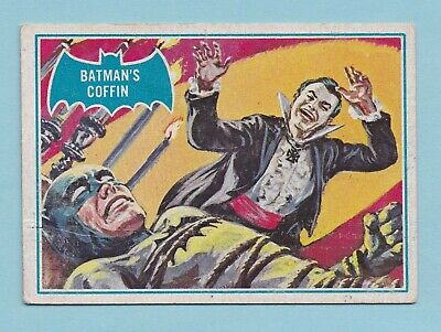 1966  Scanlens Gum Card:  BATMAN (Blue Bat)  ...  #13B  BATMAN'S  COFFIN