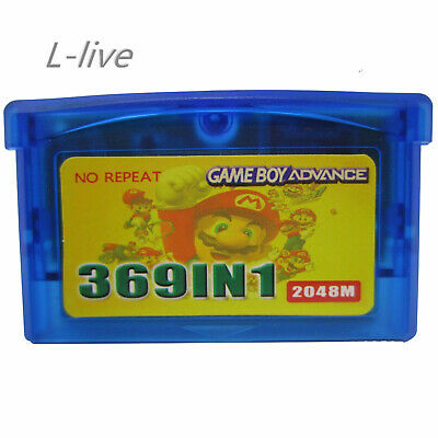 369 in 1 Game Games Cartridge Multicart Card for GBA NDS GBA SP GBM NDS NDSL US
