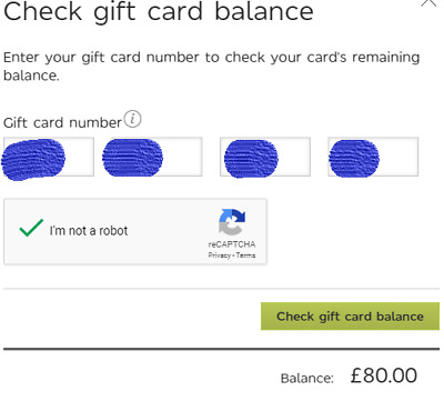 M & S Gift Card £80