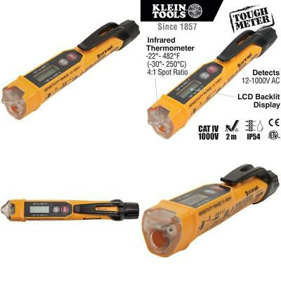 Klein Tools Ncvt-4Ir Non-Contact Voltage Tester With Infrared Thermometer Tests