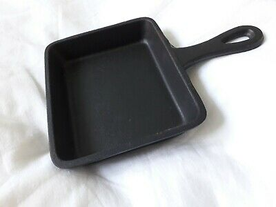 Small Shallow Cast Iron Skillet Pan~UTOPIA 5in(13cm) x 4in(10cm) FREE P & P
