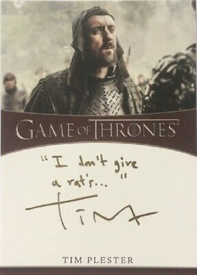 Tim Plester Inscription Autograph as Walder Rivers from Game of Thrones Season 8