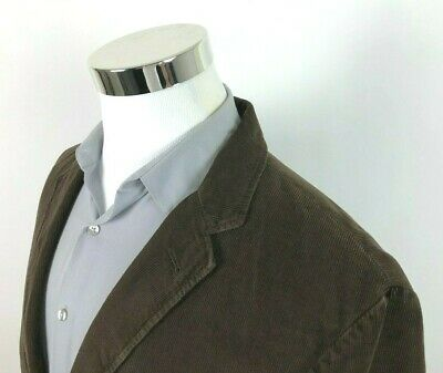 New J Crew Brown Corduroy Sport Coat 2 Button Blazer Jacket Mens Size XL (46R)