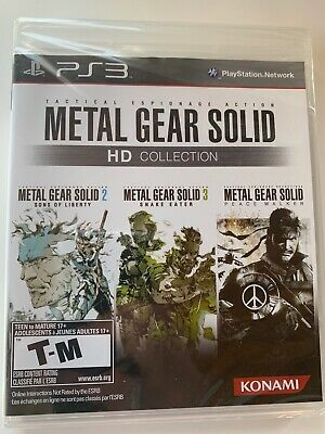 Metal Gear Solid HD Collection Sony PlayStation 3 snake eater, peacewalker New