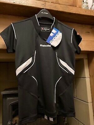BNWT Babolat Black Tennis Top, Size XS