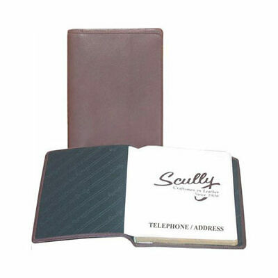Scully Unisex  Tel/Address Book Soft Plonge 1145 Chocolate Size OSFA