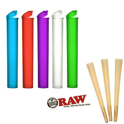 RAW Lean Size  Pre Rolled Cones 5 Cones With 5 Free Tubes
