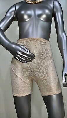 Vintage JC Penny 1960's Girdle Tap Panties Sissy Granny Shiny Second Skin USA L
