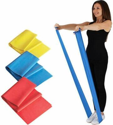 1.2m TheraBand Pilates And Yoga Stretch Resistance Bands Exercise Home Gym UK ✅✅