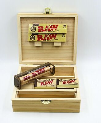 Rolling Tray Storage Stash Box 2 Raw KING SIZE PaperS, Roller, 100 Tips
