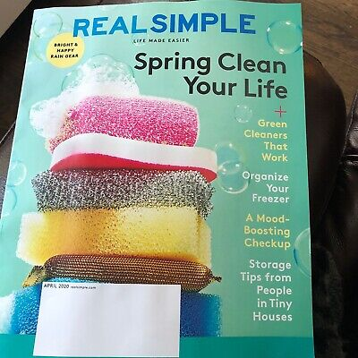 Real Simple April 2020 Spring Clean Your Life Magazine