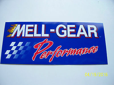 "Original  Racing  Decals  "" Mell - Gear  Performance "" 5.5  "" X  2.25 "" #1"