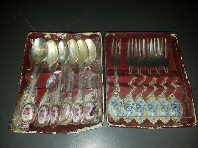 Silver Plated Teaspoon And Small Forks.