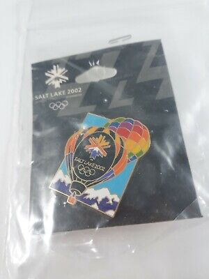 2002 Salt Lake Aminco Olympic Pin Hot Air Balloons - NEW on Card and Sealed