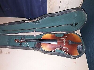 ANTONIUS STRADIVARIUS MODEL Made in GERMANY Antique VIOLIN for parts or repair
