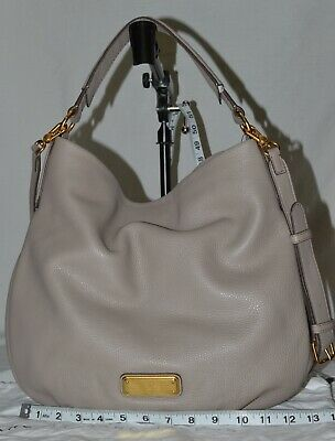 New Marc by Marc Jacobs Large Q Hillier Hobo Cement Leather crossbody 2way