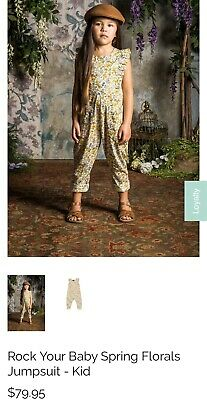 Rock Your Baby Spring Florals Jumpsuit Overalls