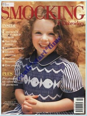 AUSTRALIAN SMOCKING and EMBROIDERY ISSUE 42 : 1998 : *RARE*HTF* INTACT