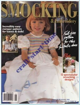 AUSTRALIAN SMOCKING and EMBROIDERY ISSUE 28 : AUTUMN 1994 : *RARE*HTF*