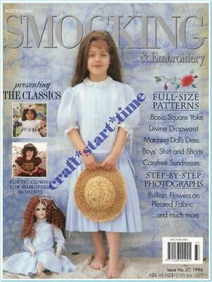 AUSTRALIAN SMOCKING and EMBROIDERY ISSUE 37 : 1996 : *RARE*HTF* INTACT