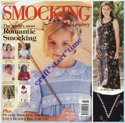 AUSTRALIAN SMOCKING and EMBROIDERY ISSUE 55 : 2001 : *RARE*HTF* INTACT
