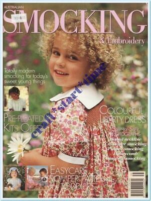 AUSTRALIAN SMOCKING and EMBROIDERY ISSUE 35 : 1996 : *RARE*HTF* INTACT