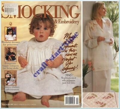 AUSTRALIAN SMOCKING and EMBROIDERY ISSUE 40 : 1997 : *RARE*HTF* INTACT
