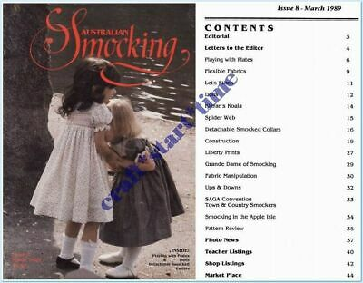 Australian Smocking Issue 08 **Oop*Very Rare** : March 1989 : Vgc